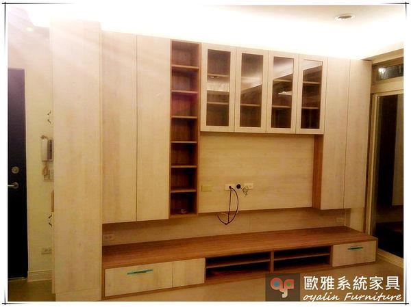 【歐雅系統家具】系統家具 系統收納櫃 客廳電視造型牆收納規劃