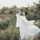 雪魄漢服女齊胸襦裙古裝服裝淡雅魏晉風古裝【聚可愛】