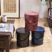 茶水桶家用客廳創意過濾排廢水桶塑料茶葉桶小號茶渣桶茶台茶具igo『潮流世家』