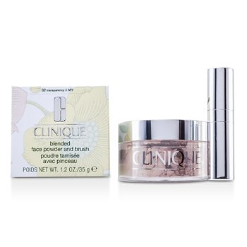 SW Clinique倩碧-10 晶瑩蜜粉(含蜜粉刷)Blended Face Powder + Brush - No. 02 Transparency; Premium price due to scarcity