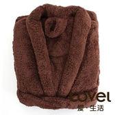LOVEL 7倍強效吸水抗菌超細纖維浴袍(咖啡糖)