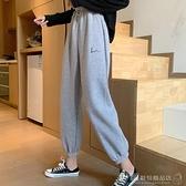 2021年新款時尚chic秋冬季加絨加厚寬鬆百搭慵懶風束腳休閒女衛褲 伊蘿 618狂歡
