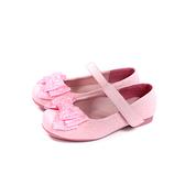 小女生鞋 娃娃鞋 蝴蝶結 閃粉 粉紅色 童鞋 no208