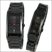 【萬年鐘錶】SIGMA日系 全黑金字時尚對錶 5812MBRG-5812LBRG