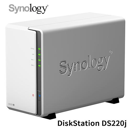 Synology 群暉 DiskStation DS220j 2Bay NAS 網路儲存伺服器