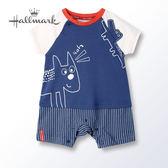 Hallmark Babies 野生動物樂園春夏男嬰短袖連身衣 HH1B0116BBPN