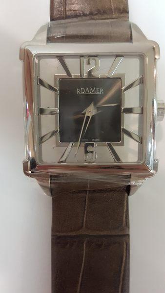 ROAMER-手動上鍊機械錶-黑面600/1000