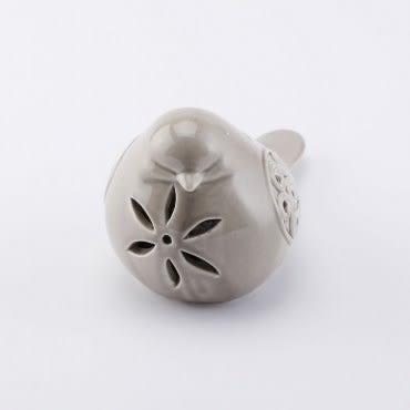 亞倫陶瓷小鳥燈飾 灰