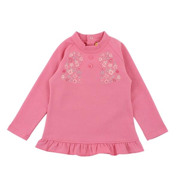 【愛的世界】彈性荷葉下襬長袖上衣/2~4歲-台灣製- ★秋冬上著