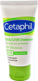 買就送溫和潔膚棉 舒特膚Cetaphil 極致全護低敏防曬霜 50ml spf50 元氣健康館