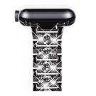 NewWays 水鑽錶帶 42/44mm 316L不銹鋼 適用Apple Watch Series 6 SE Series 4 Series 5 黑/玫瑰金/銀 [9美國直購]