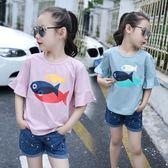 女童t恤短袖 夏裝2018新款童裝中大童正韓棉質半袖上衣 兒童T恤女禮物限時八九折