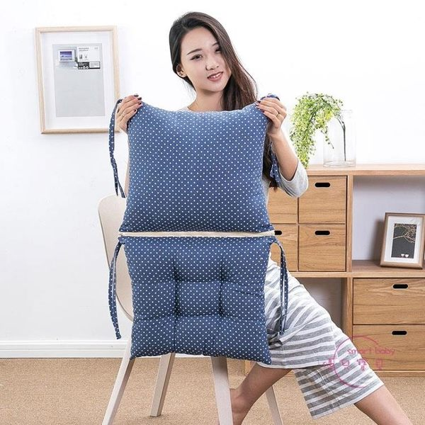 坐墊連身坐墊靠墊一體辦公室椅墊地板加厚學生座墊餐椅板凳子屁股墊子 618年中慶
