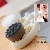 日本單時尚短柄納米竹炭潔面刷深層清潔洗臉刷 潮流前線