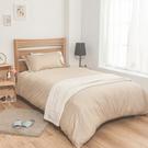 床包 / 單人【簡單生活-淺系列-多色可選】含一件枕套 100%精梳棉 戀家小舖台灣製AAA101