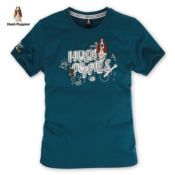 Hush Puppies T恤 男裝刺繡狗墨西哥塗鴉風T恤