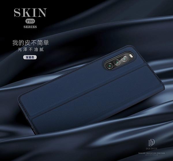 Sony Xperia 1 II 6.5吋 肌膚素色皮套 磁吸手機套 SKIN保護殼 側翻手機殼 支架保護套 簡約外殼