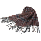 S.T.Dupont 羊駝毛混紗典雅格紋圍巾(咖啡紅系) 989120-6