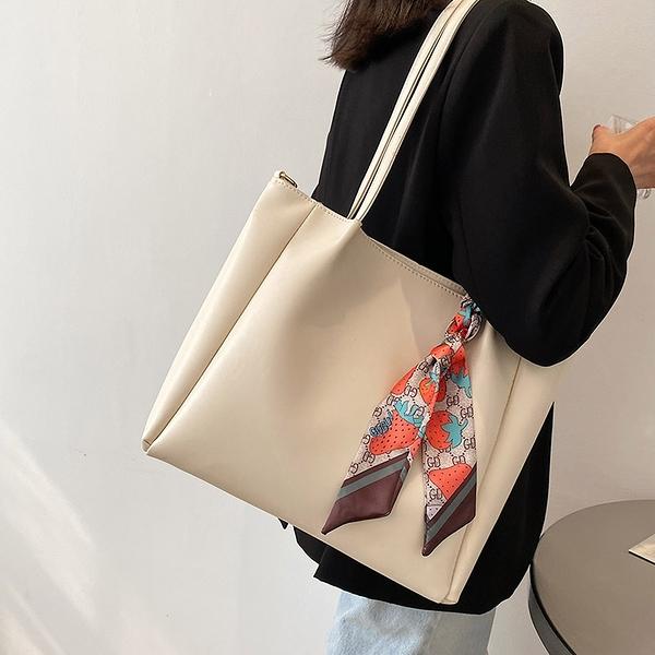 托特包 通勤大容量托特包包2021新款時尚網紅單肩斜挎包女包大學生上課包 快速出貨