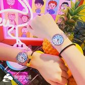 手錶 休閑男女軟妹趣味透明手表日系黑白情侶學生腕表 潮流小鋪
