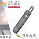 雨傘 陽傘 萊登傘 抗UV 防曬 不回彈 無段自動傘 自動開合 銀膠 經典素色 Leighton(銀灰)