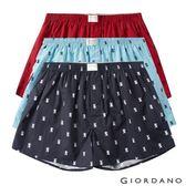 【GIORDANO】男裝純棉寬鬆平底四角褲三件裝-61 獅王圖案