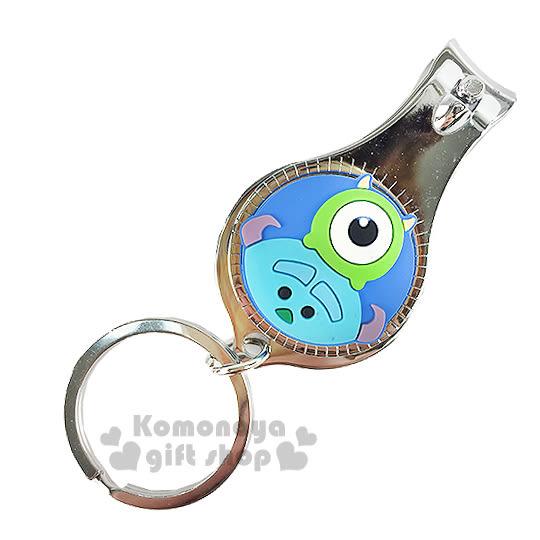 〔小禮堂〕迪士尼 Tsum Tsum 眼仔毛怪 指甲剪《小.藍.大臉.附鑰匙圈》方便隨身攜帶 8039032-20014