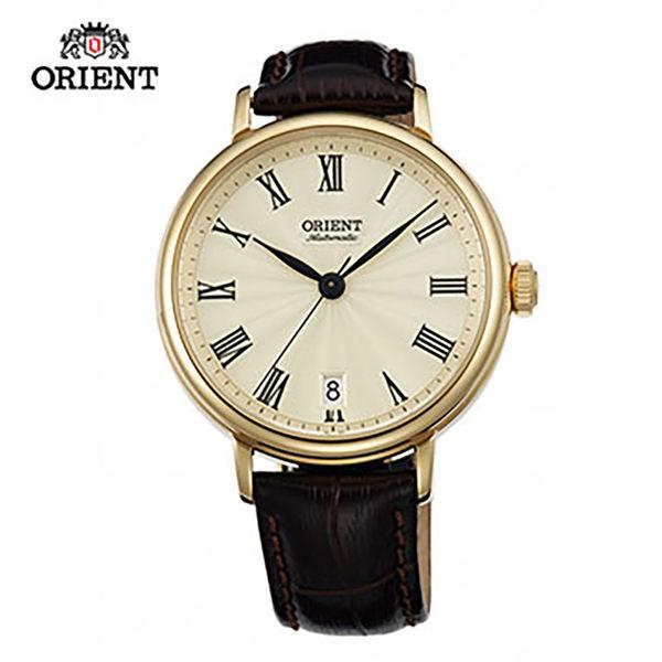 ORIENT 東方錶 ELEGANT系列 羅馬假期復古機械錶 皮帶款 FER2K003C 金色 - 37.5mm