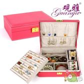 皮革韓國公主歐式雙層木質帶鎖首飾盒飾品盒首飾收納盒戒指盒