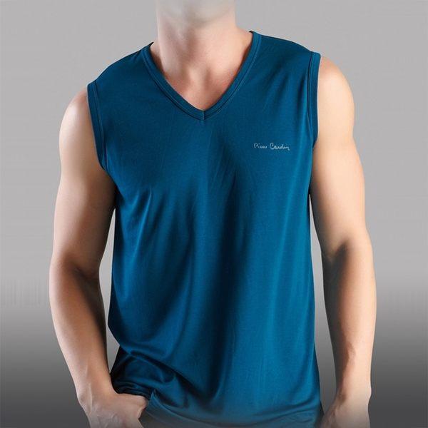 Pierre Cardin 2件組台灣製木醣醇涼感寬肩背心(隨機取色)