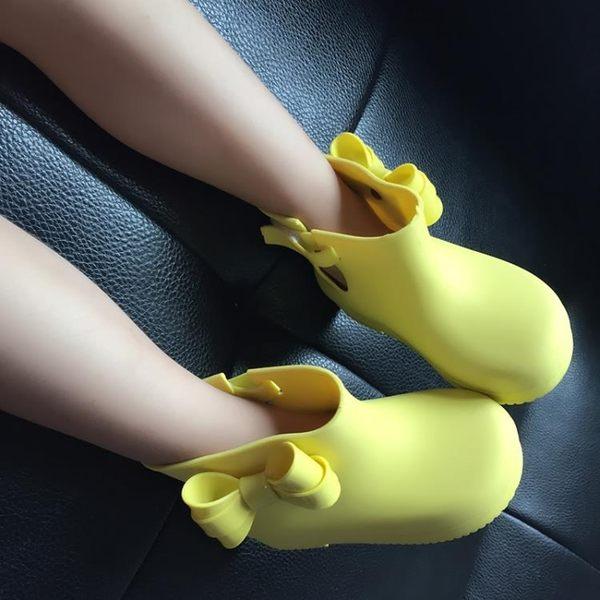 蝴蝶結防滑可愛卡通兒童雨鞋雨靴水晶雨靴水鞋套鞋男女童【一周年店慶限時85折】