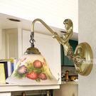 設計師美術精品館歐式田園美人魚壁燈/鏡前燈/床頭燈/彩繪油畫燈飾燈具7寸牽牛花