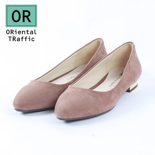 【ORiental TRaffic】舒適百搭尖楦平底鞋-溫暖駝