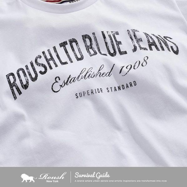【Roush】美式簡約字體時裝短TEE - 【712193】