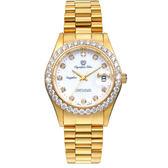 Olympia Star 奧林比亞之星 都會菁英 奢華晶鑽錶-金/39mm