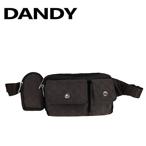 DANDY 花紋滿版咖啡色腰包 NO:9862