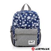 美國 AIRWALK - Blue star輕量親子後背包(小)-星星藍