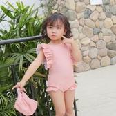INS兒童泳衣女孩連體寶寶嬰兒可愛游泳衣公主小童韓國泳裝1-3歲