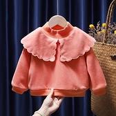 女童上衣 童裝女童2021新款秋冬裝女寶寶休閒百搭衛衣小童洋氣套頭上衣 維多原創