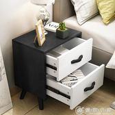 床頭櫃簡約現臥室儲物櫃北歐迷你邊櫃歐式環保韓式田園客廳 igo 優家小鋪