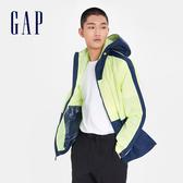 Gap 男裝 活力撞沙拉鍊連帽外套 548723-活力螢光綠