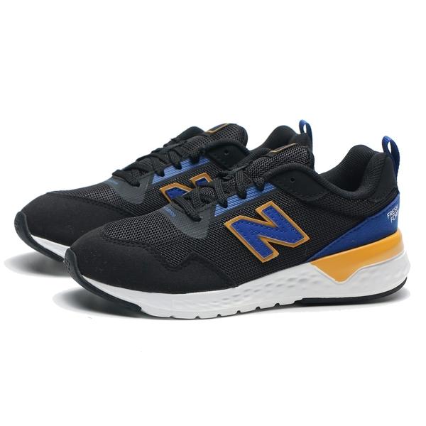 NEW BALANCE NB515 藍 黑 黃 麂皮 運動 慢跑鞋 童鞋 中童 (布魯克林) YS515RA2