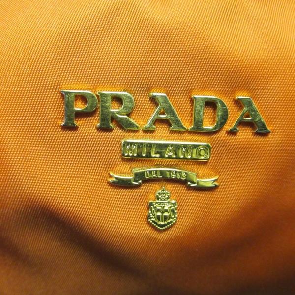 PRADA 普拉達 橘色尼龍兩用肩背托特包 BR4253 【二手名牌BRAND OFF】