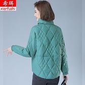 棉服女短款寬鬆輕薄立領小新款媽媽裝外套秋冬裝棉衣