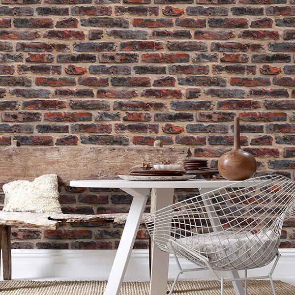 磚紋 工業風壁紙  文化石【英國壁紙】