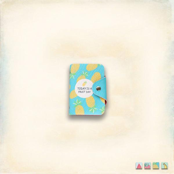 Melek 卡片夾 (共4色) 現貨【A01170707-0201~04】女卡片夾滿滿水果款 證件夾/信用卡夾/票夾