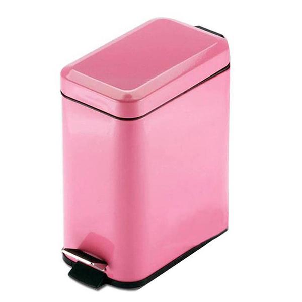 PUSH! 居家生活用品 colourful液壓緩降方型垃圾桶 置物桶 5升I19