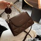 手提包 高級質感小包包女2021秋冬季新款潮百搭鍊條手提小方包側背斜背包 【99免運】