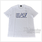 EMPORIO ARMANI印花藍字母OGO純棉短袖T恤(M/L/XL/白)