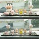 創意可愛女神款小豬公仔汽車擺件個性高檔汽車內飾用品擺件網紅款 樂活生活館